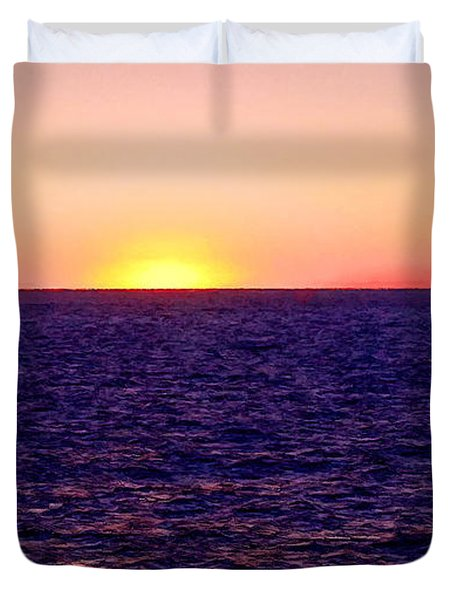Pacific Sunset Off Laguna Beach Duvet Cover by Bob and Nadine Johnston
