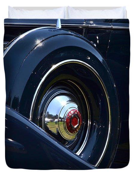 Duvet Cover featuring the photograph Packard - 1 by Dean Ferreira