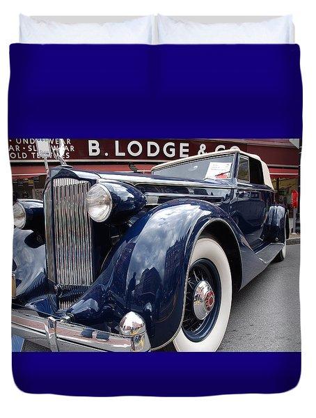 Duvet Cover featuring the photograph Packard 1207 Convertible 1935 by John Schneider