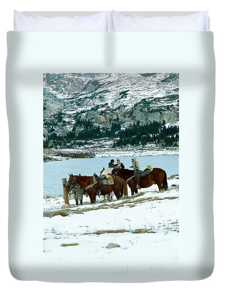 Packing Up Duvet Cover by Eric Glaser