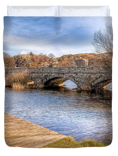 Padarn Bridge Duvet Cover by Adrian Evans