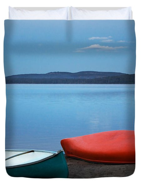Paddle's End Duvet Cover by Barbara McMahon