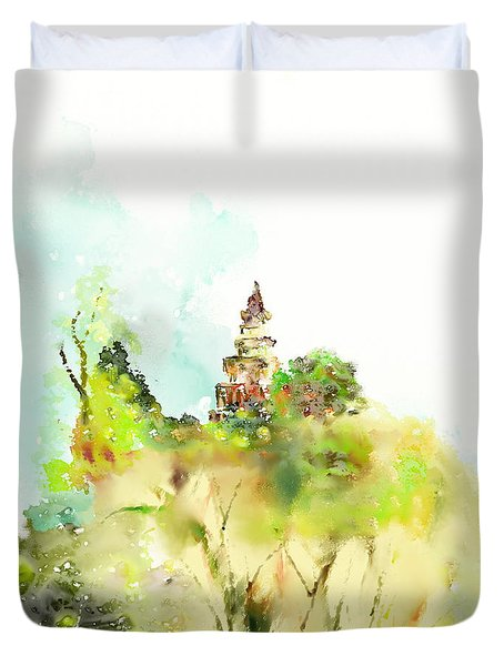 Pagoda Duvet Cover by Len YewHeng