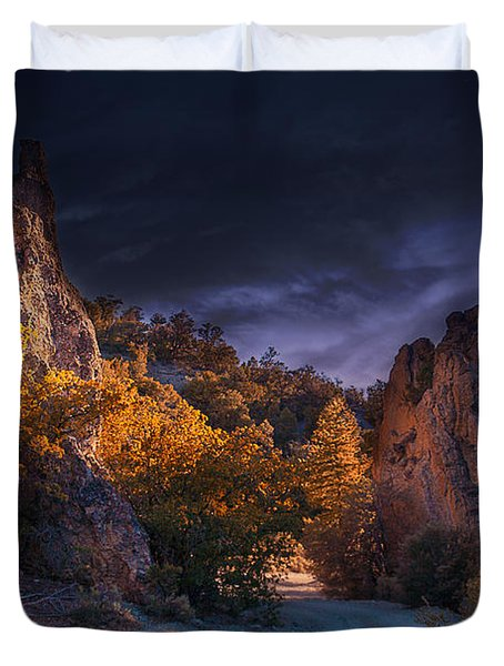 Pahrump - Road To Wheeler Peak Duvet Cover