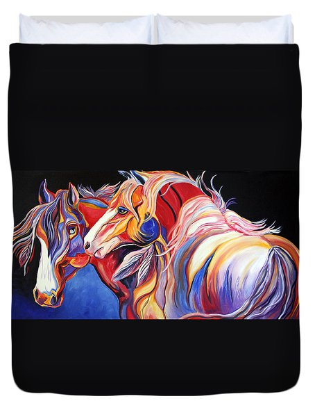 Paint Horse Colorful Spirits Duvet Cover