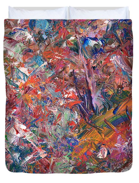 Paint Number 50 Duvet Cover by James W Johnson