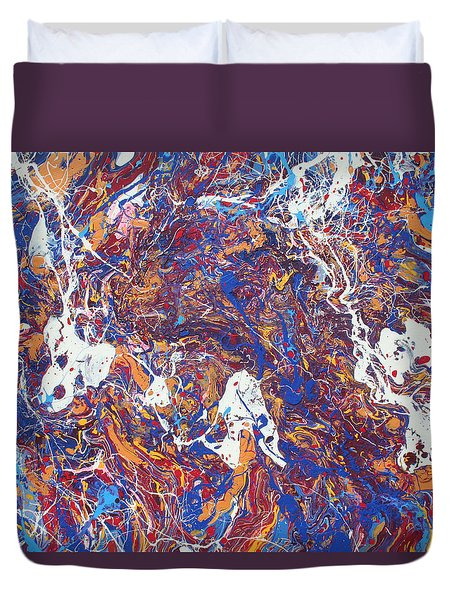 Paint Number Five Duvet Cover by Ric Bascobert