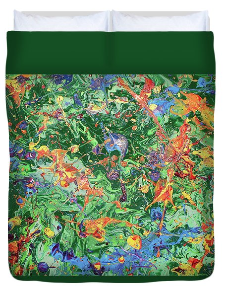 Paint Number Twenty Three Duvet Cover