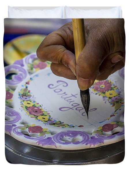 Paint On Plates Duvet Cover