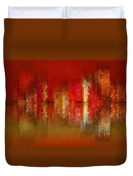 Paint The Town Red Duvet Cover by Stuart Turnbull