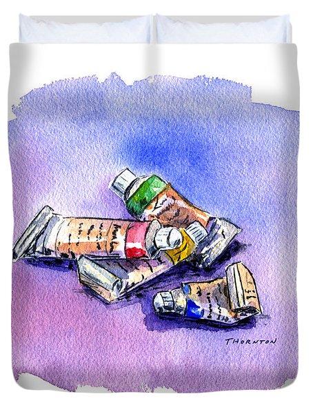 Paint Tubes Duvet Cover