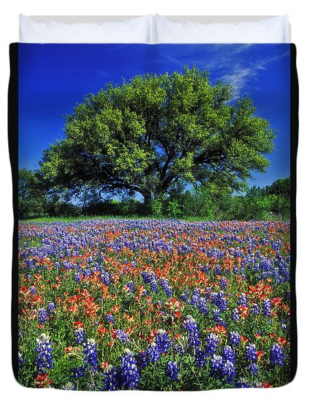 Paintbrush And Bluebonnets - Fs000057 Duvet Cover