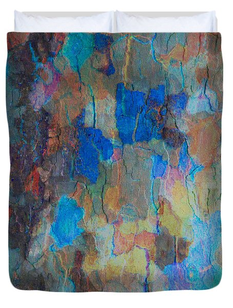 Painted Bark Duvet Cover by Stephanie Grant