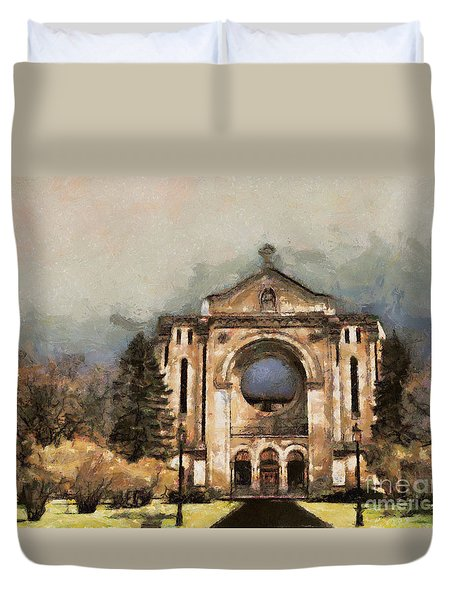 Painted Basilica Duvet Cover by Teresa Zieba