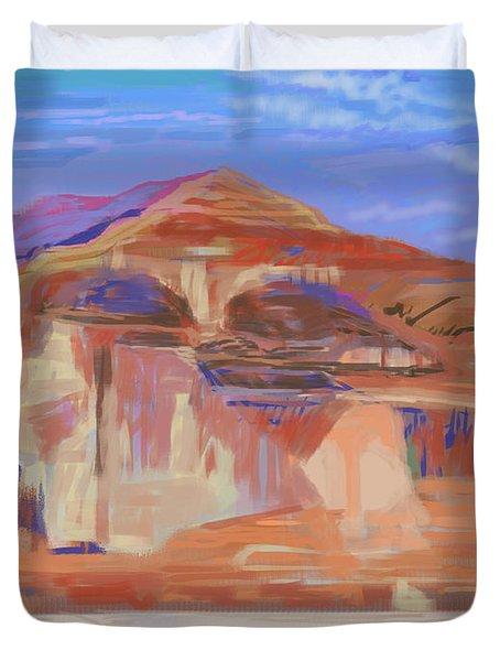 Painted Cliffs, Lake Powell Computer Art Duvet Cover