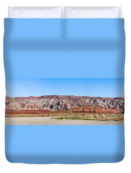 Duvet Cover featuring the photograph Painted Desert Mountain by Daniel Hebard