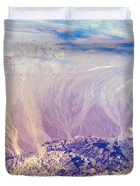 Painted Earth I Duvet Cover by Jenny Rainbow