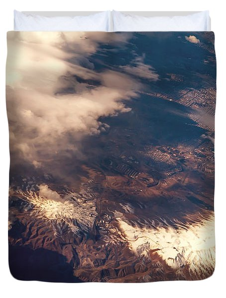Painted Earth IIi Duvet Cover by Jenny Rainbow