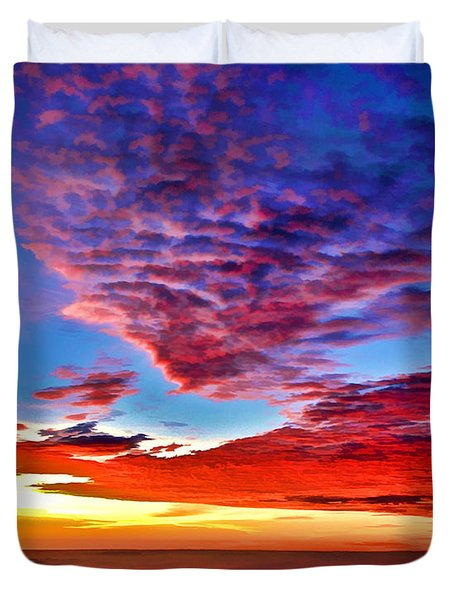Painted Heavens Duvet Cover