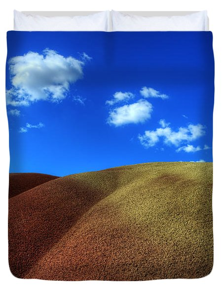 Painted Hills Blue Sky 1 Duvet Cover by Bob Christopher