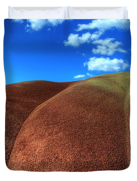 Painted Hills Blue Sky 2 Duvet Cover by Bob Christopher