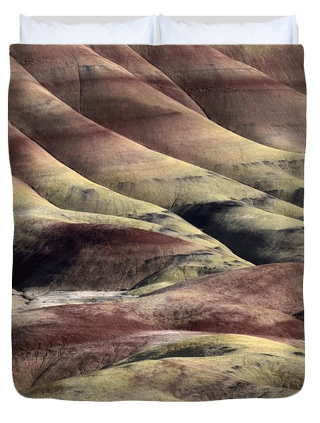 Painted Hills Oregon 11 Duvet Cover by Bob Christopher