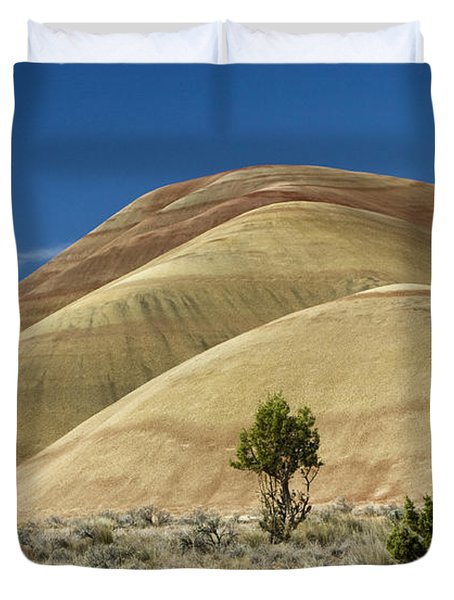 Duvet Cover featuring the photograph Painted Hills by Sonya Lang