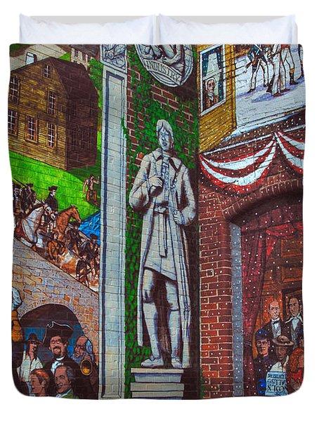 Painted History 1 Duvet Cover by Joann Vitali