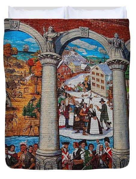 Painted History 2 Duvet Cover by Joann Vitali