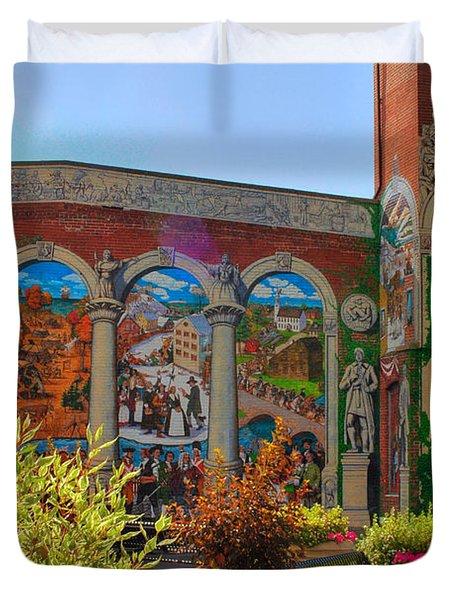 Painted History 4 Duvet Cover by Joann Vitali