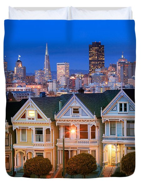 Painted Ladies Duvet Cover by Inge Johnsson