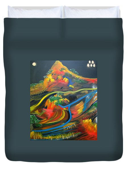 Painted Landscape Duvet Cover