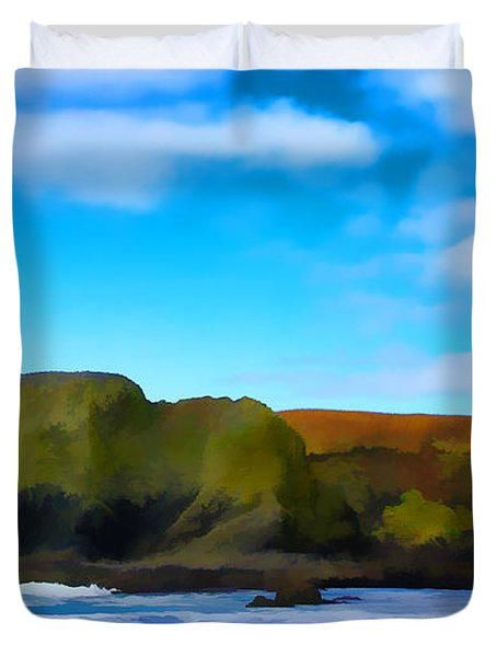 Painted Lighthouse Duvet Cover by Steve McKinzie