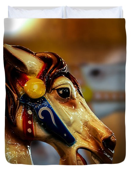 Painted Pony  Duvet Cover by Bob Orsillo