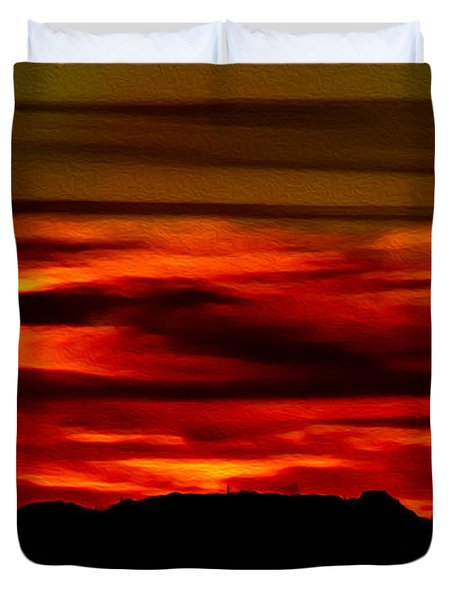 Duvet Cover featuring the photograph Painted Sky 34 by Mark Myhaver