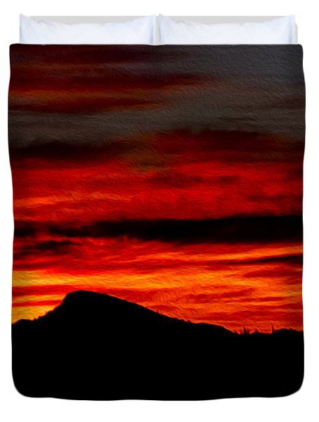 Duvet Cover featuring the photograph Painted Sky 45 by Mark Myhaver