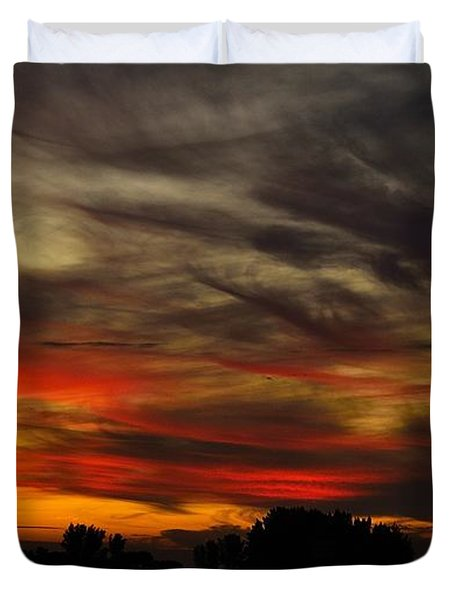 Duvet Cover featuring the photograph Painted Sky by Richard Zentner