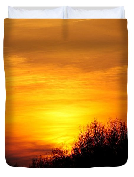 Painted Sky Duvet Cover by Frozen in Time Fine Art Photography
