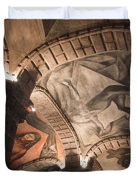 Duvet Cover featuring the photograph Painted Vaults by Lynn Palmer