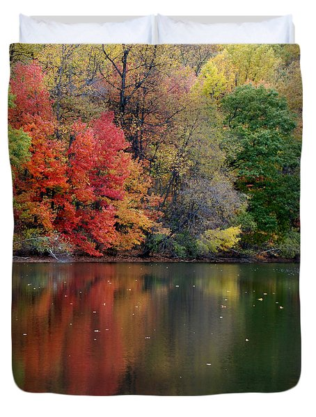 Duvet Cover featuring the photograph Painted Water by Richard Bryce and Family