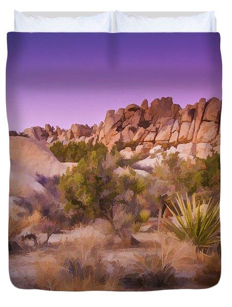 Painterly Desert Duvet Cover