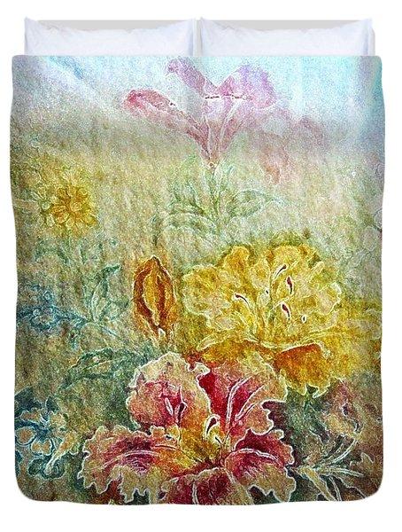 Painterly Floral Duvet Cover