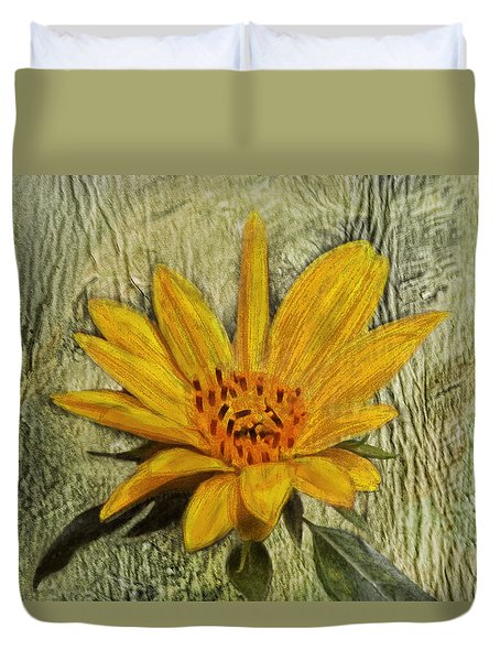 Painterly Sunflower Duvet Cover by Sandi OReilly