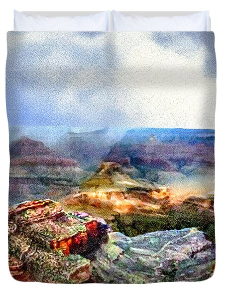 Painting The Grand Canyon Duvet Cover
