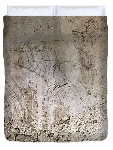 Painting West Wall Tomb Of Ramose T55 - Stock Image - Fine Art Print - Ancient Egypt Duvet Cover