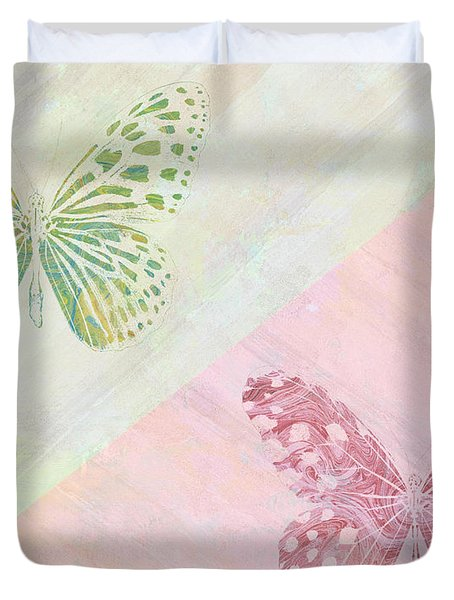 Pairs Of Wings Duvet Cover by Aged Pixel