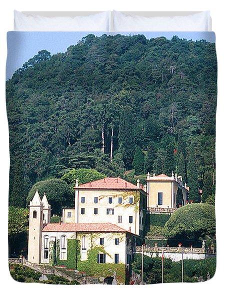 Palace At Lake Como Italy Duvet Cover