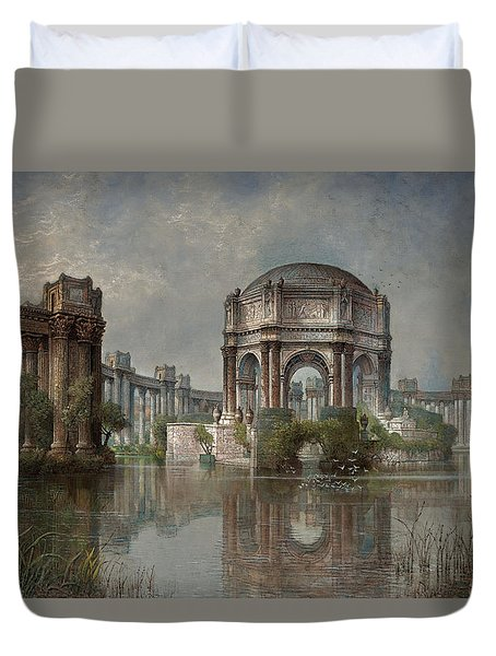 Palace Of Fine Arts And The Lagoon Duvet Cover