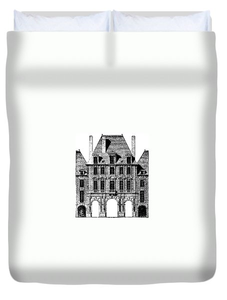 Duvet Cover featuring the photograph Place Royal At Paris by Suzanne Powers
