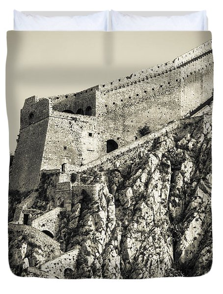 Palamidi Fortress Stairs Duvet Cover